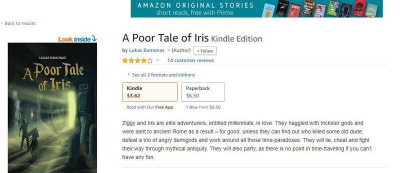 """Per """"Amazon"""" bet kas gali išleisti bet kokią knygą. Ir sulaukti keturiolikos atsiliepimų. Ekrano kadras."""