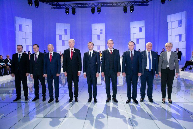Iš viso yra devyni kandidatai į prezidentus. Vladimiro Ivanovo (VŽ) nuotr.