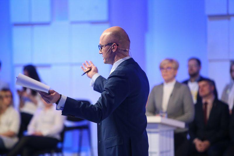 Kandidatų į Respublikos Prezidentus debatai per LRT.  Vladimiro Ivanovo (VŽ) nuotr.