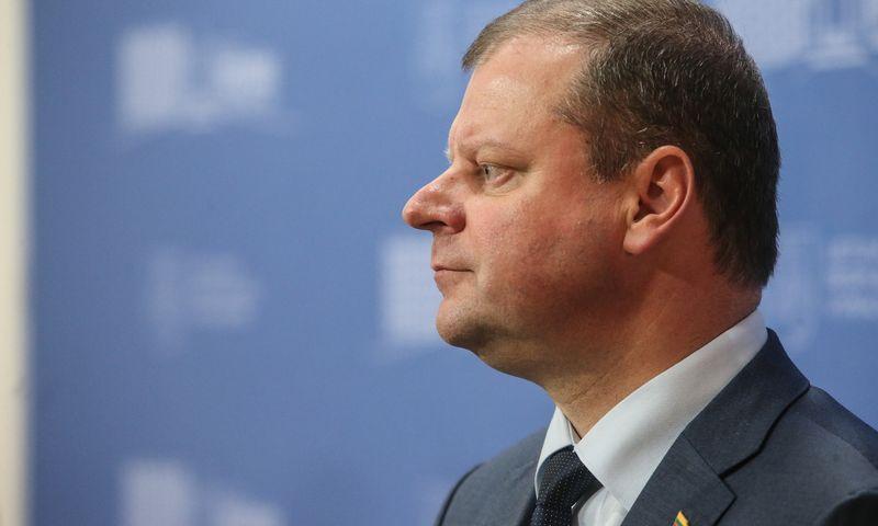 Saulius Skvernelis tvirtina po prezidento rinkimų dar pagalvosiąs, ar likti premjero poste. Vladimiro Ivanovo (VŽ) nuotr.