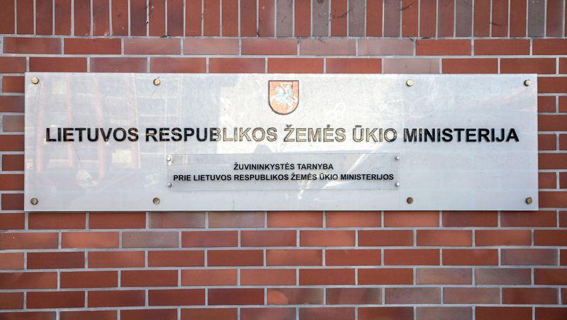 Žemės ūkio ministerijos iškaba. Juditos Grigelytės (VŽ) nuotr.
