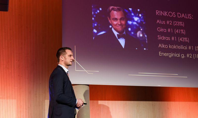 """Mantas Matukaitis, aludarės """"Volfas Engelman"""" rinkodaros vadovas. """"Verslo žinių"""" organizuojama metinė rinkodaros efektyvumo konferencija """"Password 2019"""". Ryčio Galadausko nuotr."""