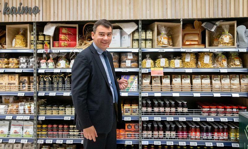 """Mindaugas Maciulevičius, kooperatyvo """"Lietuviško ūkio kokybė"""" direktorius: """"Krautuvėles """"Bočių kraitė"""" kursime bendradarbiaudami su prekybos tinklais, išsinuomodami patalpas jų parduotuvėse."""" Juditos Grigelytės (VŽ) nuotr."""