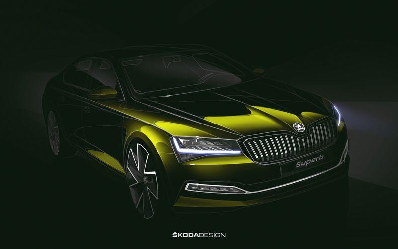"""Subtilūs išoriniai pakeitimai slepia reikšmingesnes naujoves. """"Škoda AG"""" eskizas."""