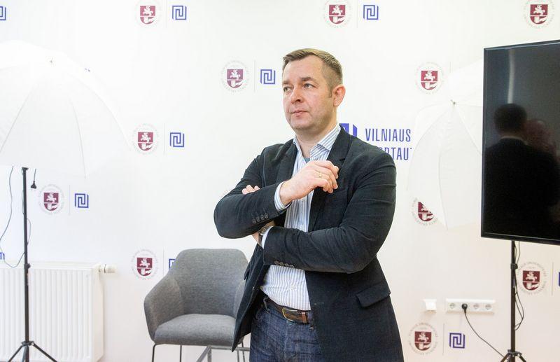 Ramūnas Vilpišauskas, Vilniaus universiteto Tarptautinių santykių ir politikos mokslų instituto direktorius. Juditos Grigelytės (VŽ) nuotr.