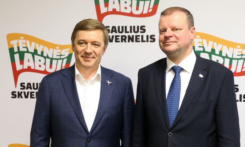 Ramūnas Karbauskis ir Saulius Skvernelis. Vladimiro Ivanovo (VŽ) nuotr.