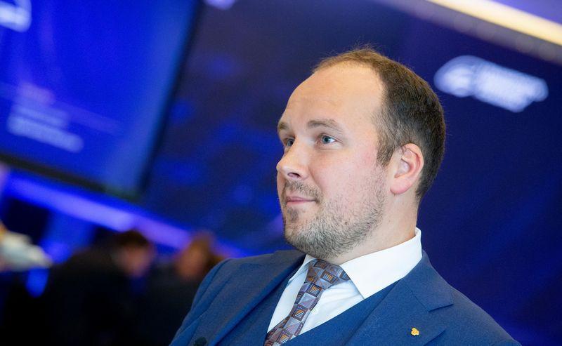 """Transporto inovacijų forumas. """"Luminor Lietuva"""" vyriausiasis ekonomistas Žygimantas Mauricas. Juditos Grigelytės (VŽ) nuotr."""