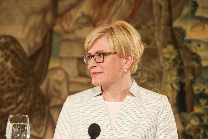 Ingrida Šimonytė BNS spaudos konferencijoje. Vladimiro Ivanovo (VŽ) nuotr.