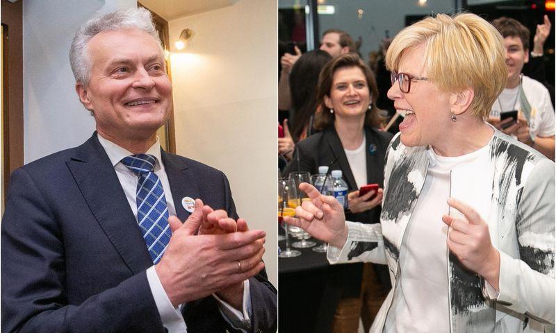 Gitanas Nausėda ir Ingrida Šimonytė. VŽ montažas