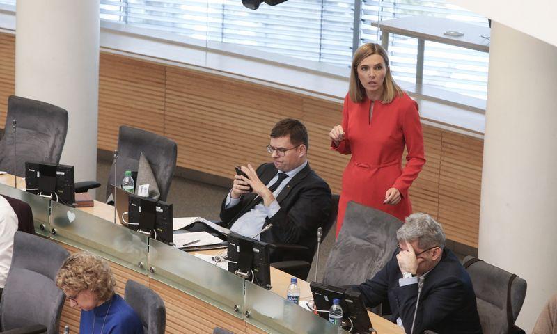 Seimo narė Agnė Bilotaitė. Vladimiro Ivanovo (VŽ) nuotr.