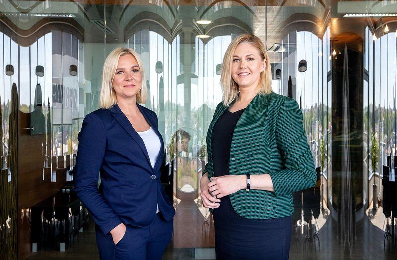 """Agnė Jasinskaitė, """"Nordgain"""" generalinė direktorė (kairėje) ir Vilma Poškutė, """"Nordgain"""" verslo vystymo vadovė.  Juditos Grigelytės (VŽ) nuotr."""