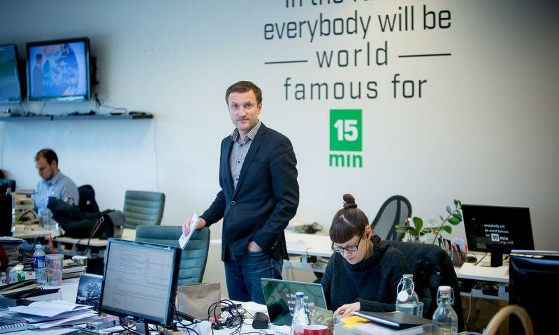 """Ramūnas Šaučikovas, naujienų portalo """"15min"""" ir naujienų agentūros """"BNS Lietuva"""" direktorius. Vladimiro Ivanovo (VŽ) nuotr."""
