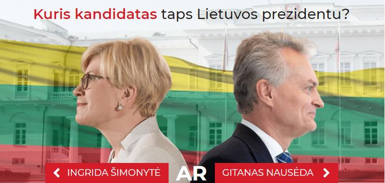 Prezidento rinkimai prie TV sutraukė pusę Lietuvos