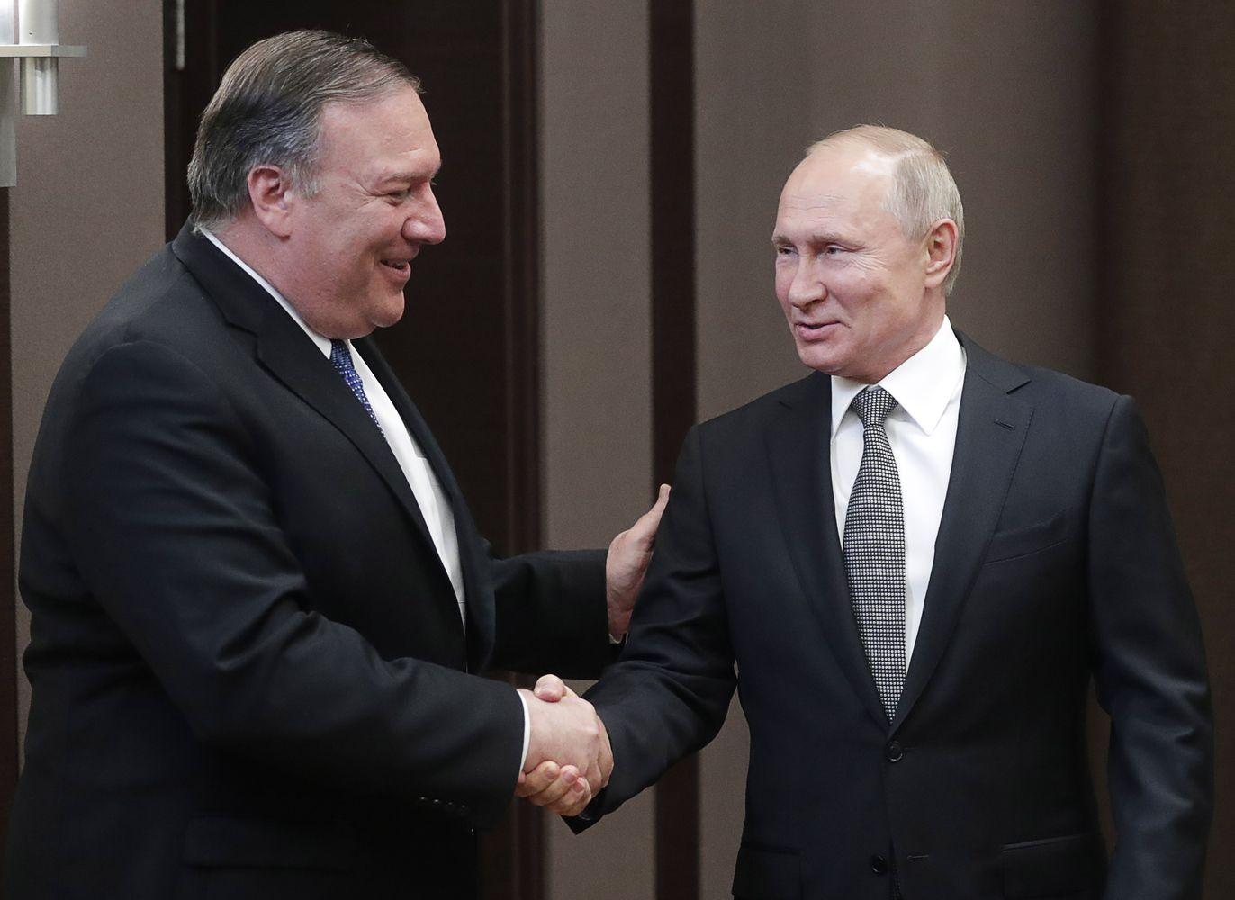 M. Pompeo įspėjo Maskvą nesikišti į ateinančius JAV prezidento rinkimus