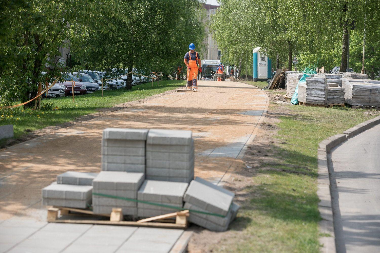 Vilniuje tiesiamas naujas dviračių ir pėsčiųjų takas