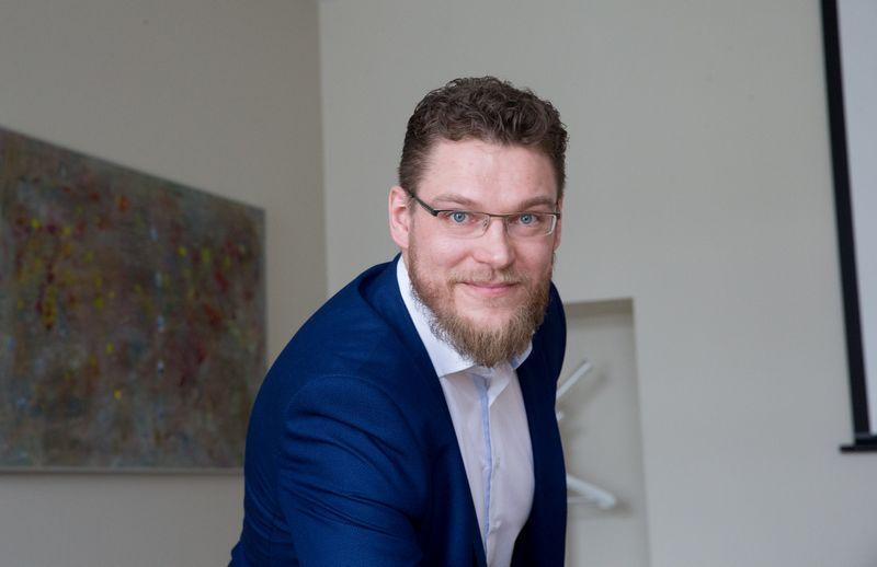 "Domas Jagminas, ""Solid Real"" partneris. Juditos Grigelytės (VŽ) nuotr."