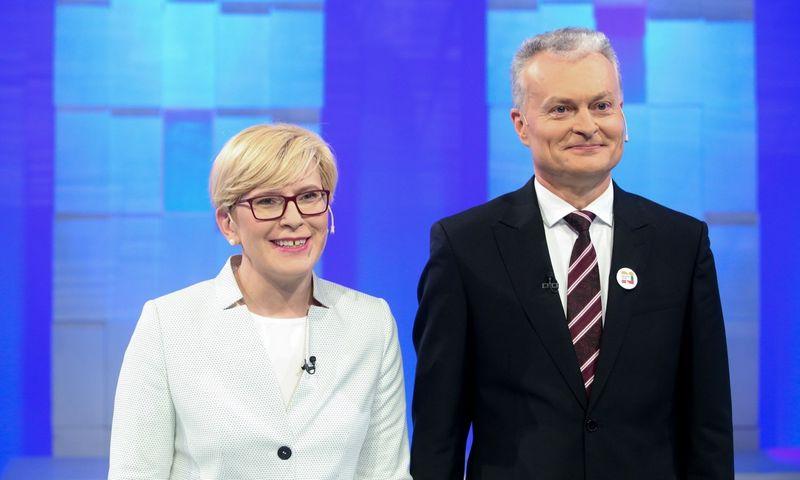 Ingrida Šimonytė ir Gitanas Nausėda. Vidmanto Balkūno (15min.lt/scanpix) nuotr.