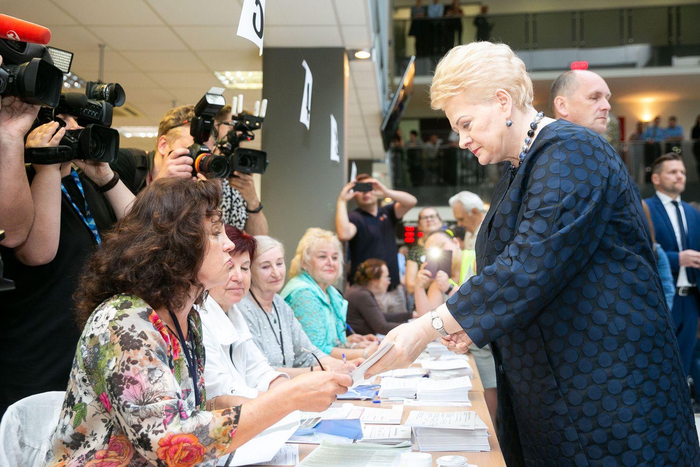 D. Grybauskaitė: mums pasisekė dėl antrojo turo kandidatų
