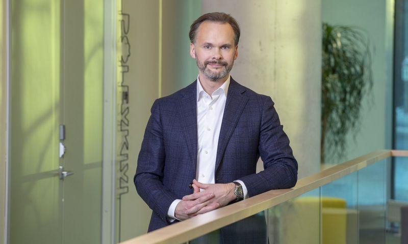 """Enefit"" generalinis direktorius Lietuvoje Vytenis Koryzna."