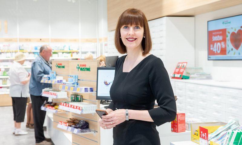 """Ingrida Damulienė, vaistinių tinklo """"Eurovaistinė"""" valdybos pirmininkė sako, kad įmonė yra paskyrusi atsakingus žmones, kurie kilus krizei, pirmiausia imtųsi veiksmų., Juditos Grigelytės (VŽ) nuotr."""
