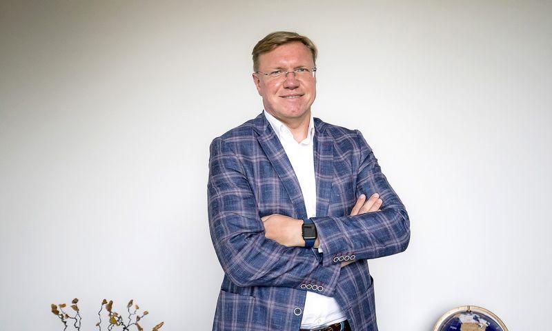 """Vytas Volkevičius, """"Hoptrans holding"""" pagrindinis akcininkas: """"Yra skirtumas, kai su klientu bendrauja vietos kompanija ir kai kompanija iš Rytų Europos.""""  Ramūno Guigos nuotr."""