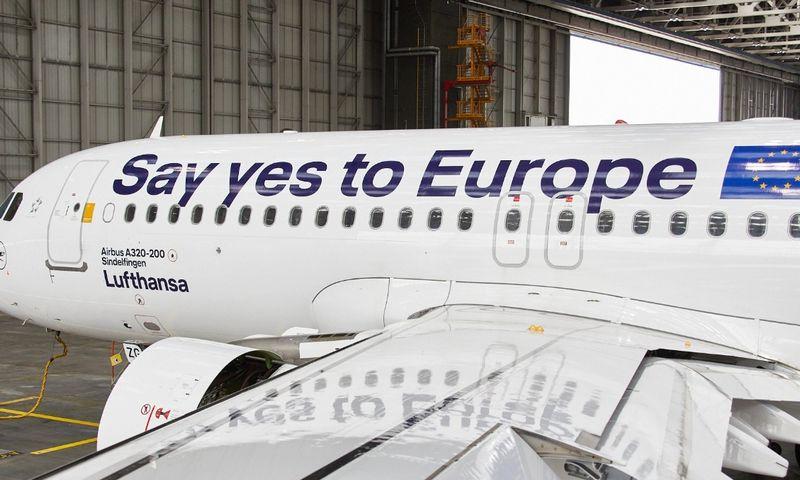 """""""Lufthansa"""" """"Twitter"""" paskyroje paskelbta nuotrauka."""