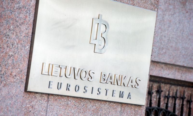 Lietuvos banko iškaba. Juditos Grigelytės (VŽ) nuotr.