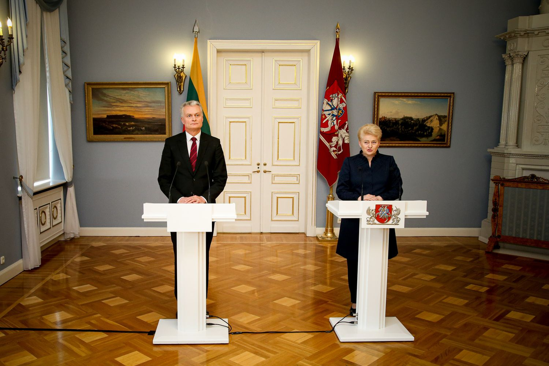 D. Grybauskaitė pažadėjo paramą G. Nausėdai