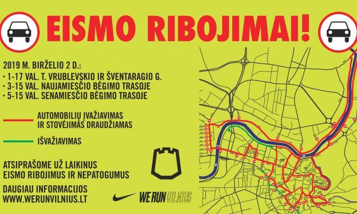 Maratonas Vilniuje stipriai apribos transporto eismą