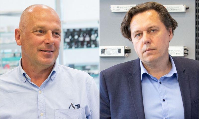 """Giedrius Monkevičius, UAB """"Lemona"""" įkūrėjas, valdybos pirmininkas (kairėje), ir Raimondas Arlauskas, įmonės generalinis direktorius.VŽ montažas"""