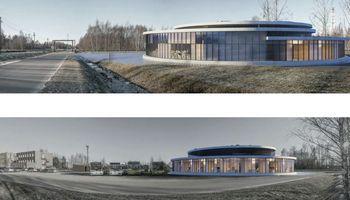 Ignalinos AE naujo pastato architektūriniam konkursui pateikti 6 darbai