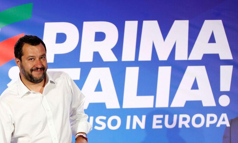 "Matteo Salvini, Italijos vicepremjeras. Alessandro Garofalo (""Reuters"" / ""Scanpix"") nuotr."