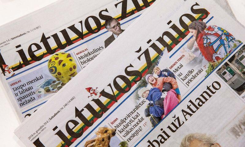 """Dienraštis """"Lietuvos žinios"""". Juditos Grigelytės (VŽ) nuotr."""