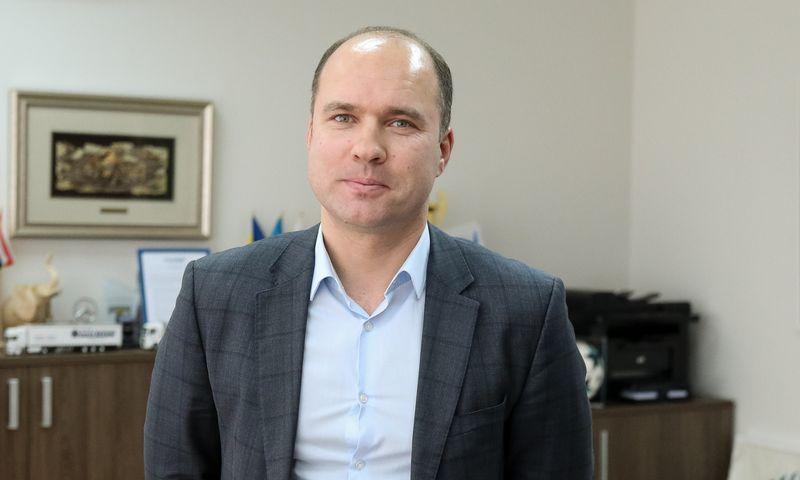 """Tomas Jurgelevičius, UAB """"Hegelmann Transporte"""" ir Tarptautinio transporto ir logistikos aljanso vadovas. Vladimiro Ivanovo (VŽ) nuotr."""