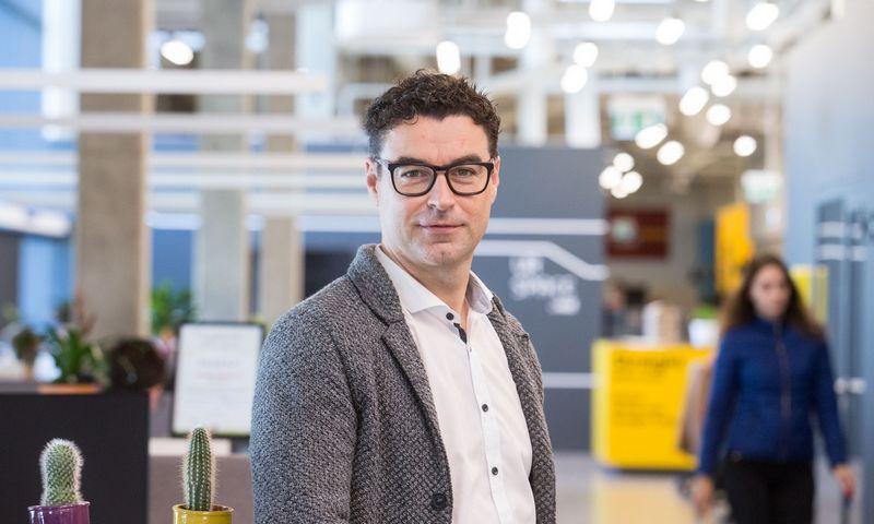"""Mindaugas Jusius, vienas iš """"Switch4Sure"""" idėjos autorių bei investuotojų, """"Klaipėdos naftos"""" generalinis direktorius. Juditos Grigelytės (VŽ) nuotr."""