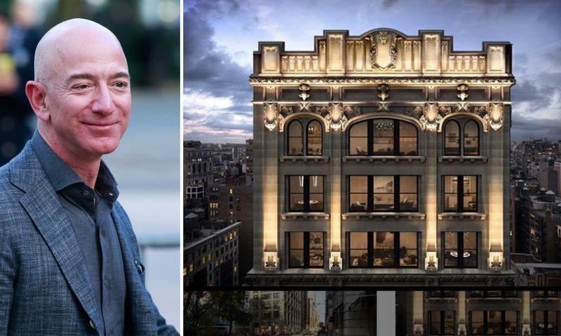 """Jeffas Bezosas investuoja į prabangų NT Niujorke. 212 Fifth Ave """"Instagram"""" paskyros ir Kenos Betancur (""""Scanpix"""") nuotr. koliažas."""