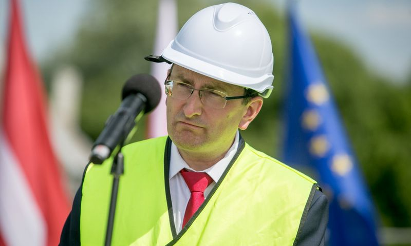"Latvijos transporto ministras Talis Linkaits. BNS  / ""Scanpix"" nuotr."