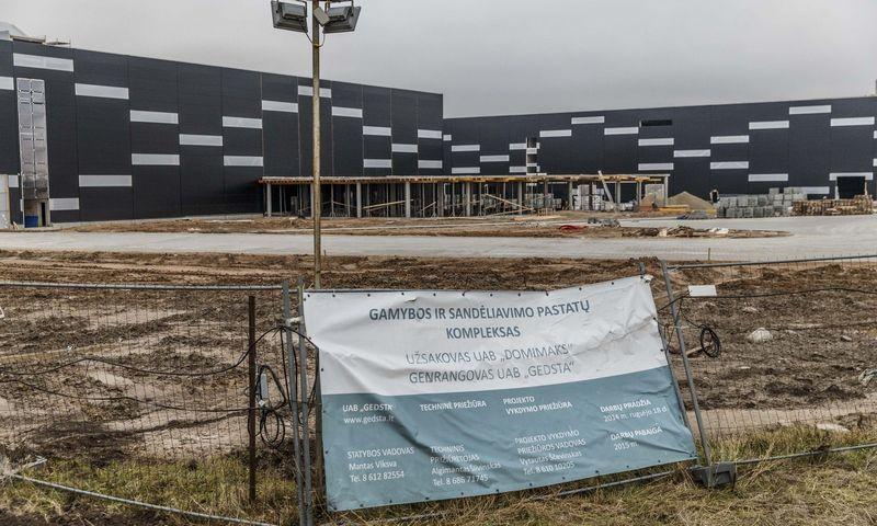 """""""Dominari"""" gamybos ir sandėliavimo pastatų statyba 2015 m. Vladimiro Ivanovo (VŽ) nuotr."""