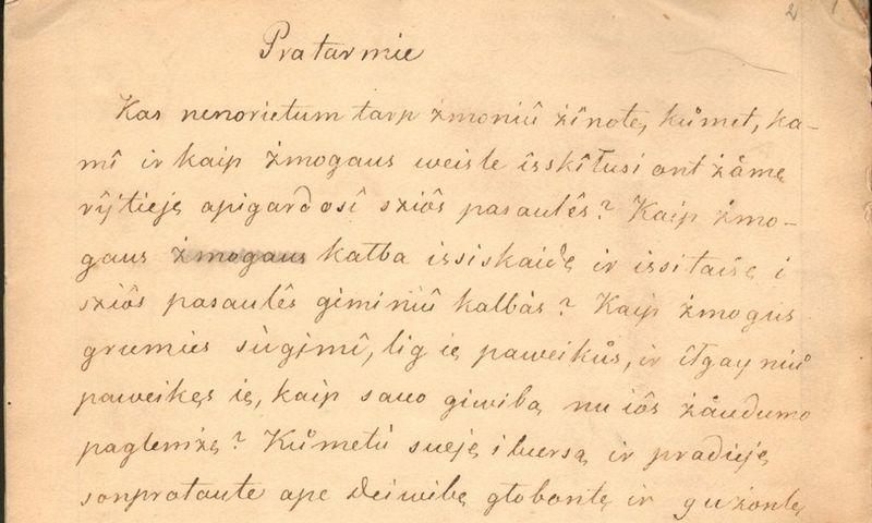 """Į """"Pasaulio atminties"""" registrą įtraukti Simono Daukanto rankraščiai apima svarbias jo veiklos sritis: istoriografiją, antikinių ir naujųjų autorių vertimus bei leksikografiją. Lietuvos Nacionalinės Martyno Mažvydo bibliotekos nuotr."""