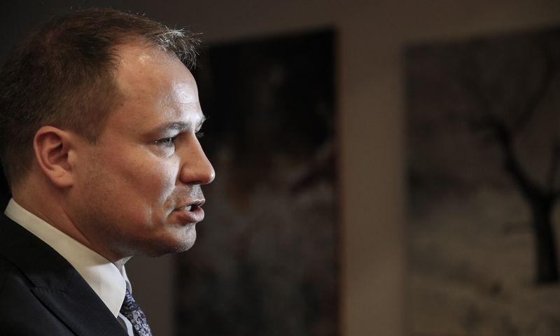 Žemės ūkio ministras Giedrius Surplys tvirtina į Vyriausybę atėjęs tam, kad perkeltų ministeriją į Kauną. Vladimiro Ivanovo (VŽ) nuotr.