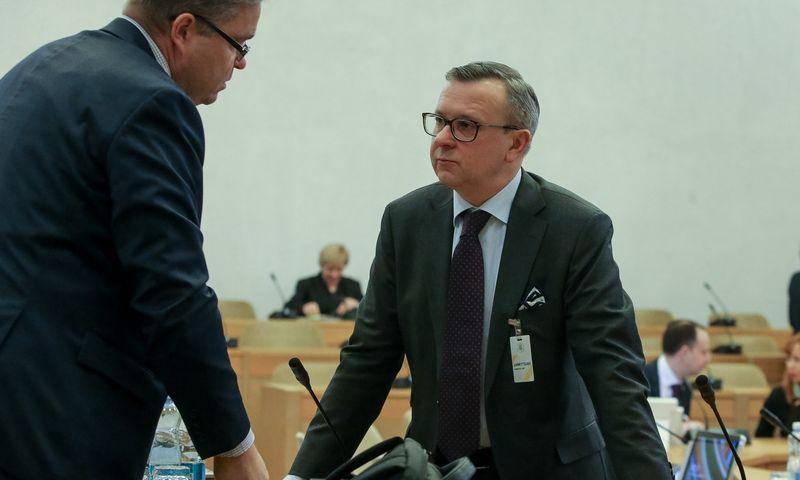 Vitas Vasiliauskas, LB valdybos pirmininkas (kairėje) ir Mantas Zalatorius, LBA prezidentas.Vladimiro Ivanovo (VŽ) nuotr.