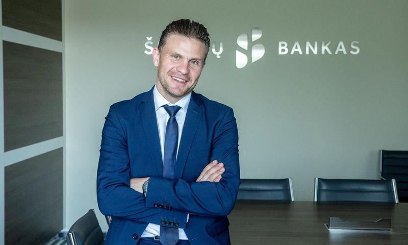 """""""Vertinant banko perspektyvas, turime galimybių ir toliau organiškai ir stabiliai augti"""", – sako Mindaugas Rudys, """"Šiaulių banko"""" paslaugų vystymo tarnybos vadovas. Juditos Grigelytės (VŽ) nuotr."""