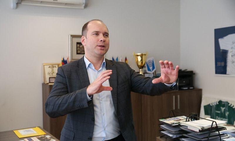 """Tomas Jurgelevičius, UAB """"Hegelmann Transporte"""" direktorius. Vladimiro Ivanovo (VŽ) nuotr."""