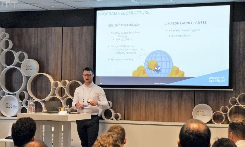 """Timas Dysonas, """"Amazon Launchpad Europe"""" verslo plėtros vadovas. Gabijos Sabaliauskaitės (VŽ) nuotr."""