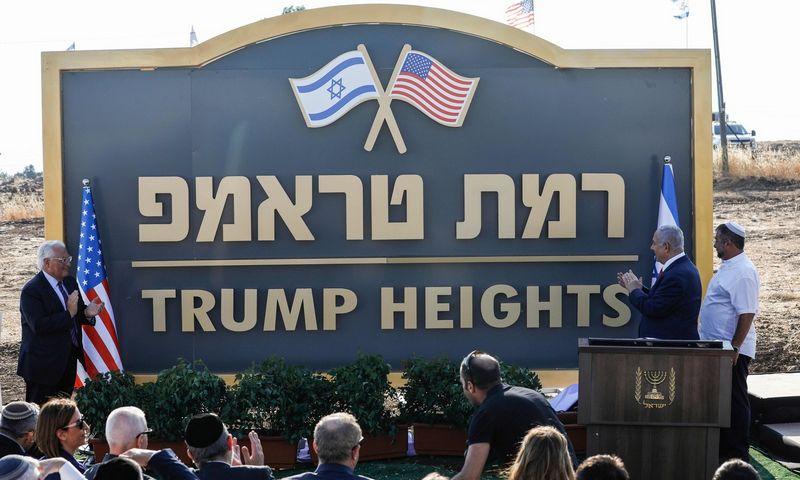 """Izraelis būsimą miestą Golano Aukštumose pavadino Trumpo garbei. Jalaa Marey (AFP/""""Scanpix"""") nuotr."""