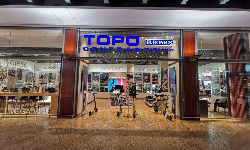 """Parduotuvė """"Topo centras"""" prekybos centre Akropolis. Vladimiro Ivanovo (VŽ) nuotr."""