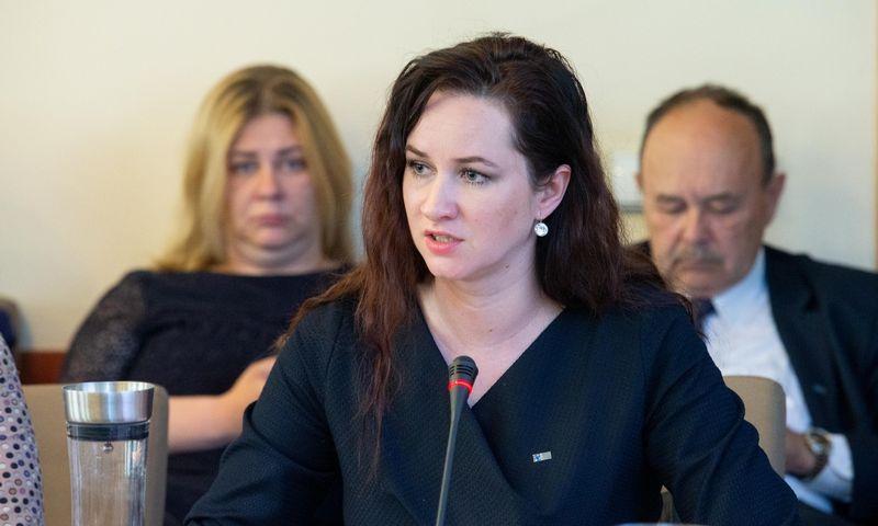 Inga Ruginienė, Lietuvos profesinių sąjungų konfederacijos pirmininkė. Juditos Grigelytės (VŽ) nuotr.