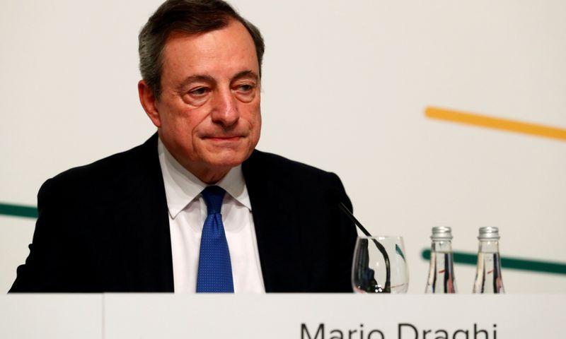 "Mario Draghi, ECB prezidentas, Vilniuje.  Ints Kalnins (""Reuters"" / ""Scanpix"") nuotr."