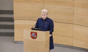 D. Grybauskaitės deklaruotas turtas sumažėjo 300.000 Eur