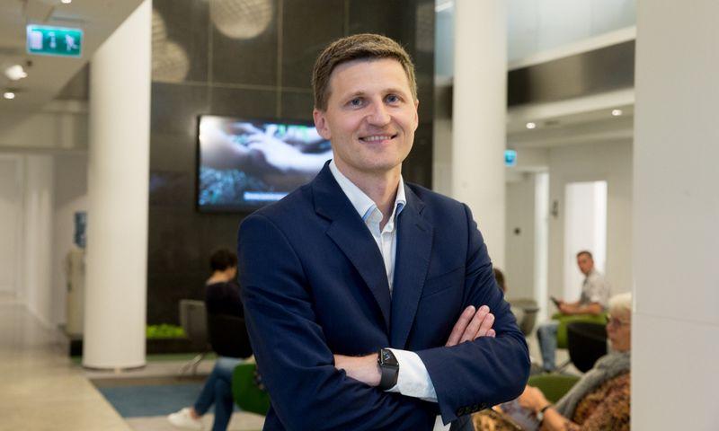 Vaidas Žagūnis, SEB banko prezidento pavaduotojas, Mažmeninės bankininkystės tarnybos direktorius. Juditos Grigelytės (VŽ) nuotr.